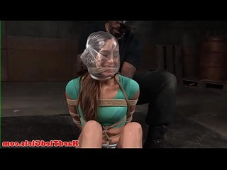 Breathplay submissive tiedup and flogged