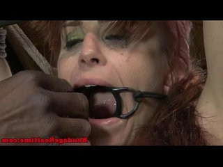 Open mouth gagged sub gets tt