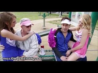 Teen Cheerleaders Dads Agree To Swap Daughters